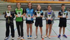 Badminton: Ergebnisse 1. Bezirksrangliste U11-U19