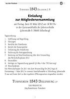 TV Dillenburg 1843 Vereinszeitung 2012